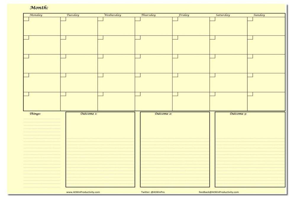Printable Planners Monthly Planner