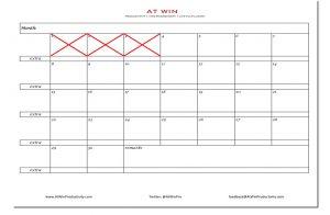 30 day Streak challenge calendar